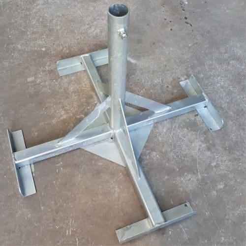 Voetstuk voor buis van 48mm in te plaatsen,betonvoeten,parasolvoeten,werfframes,immoborden,gewichtsblokken