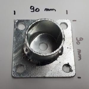 Adaptor buiskoppelingen, damwandplaat, tussenstuk buiskoppelingen, spandoekframe op palen
