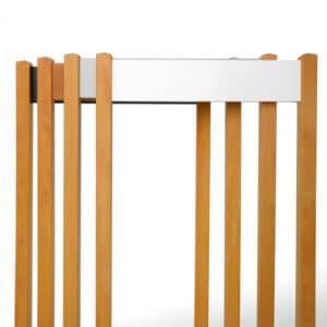 Parkeerpaaltjes / bewegwijzeringsborden aluminium + hout