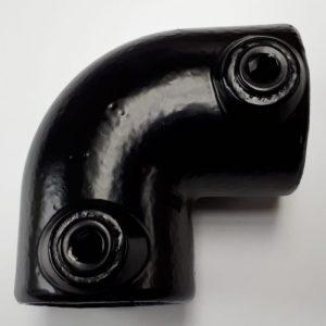 zwarte buiskoppelingen A6 bocht 90°,buiskoppeling,buiskoppelingen ,buisklem,buisklemmen,metalsign