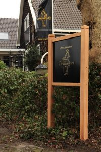 Houten tuinbord woodsign